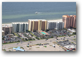 Aerial frontal image of the Enclave condo in Orange Beach, AL - Click for a full page image