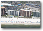 Aerial rear image of the Enclave condo in Orange Beach, AL - Click for a full page image