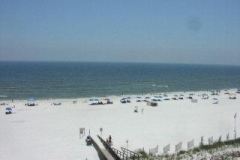 View of the beach from Enclave