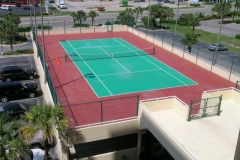 Tennis court at The Enclave